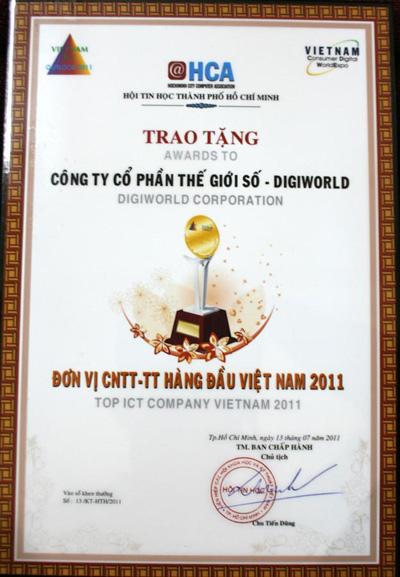 Digiworld Corporation tiếp tục lọt vào top 5 ICT Việt Nam 2011 - 2