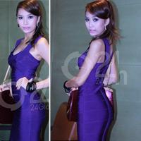 """Lan Hương khoe """"siêu vòng 3"""" bằng váy bó"""