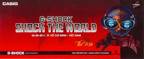 G-Shock - shock the world tour đến Việt Nam - 1