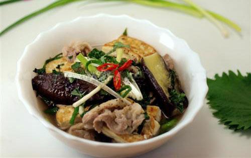 Mát trời, ăn tối với cà tím nấu đậu thịt - 9