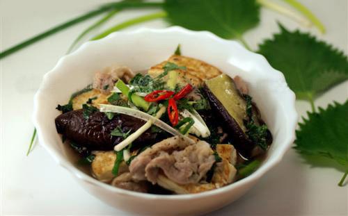 Mát trời, ăn tối với cà tím nấu đậu thịt - 8