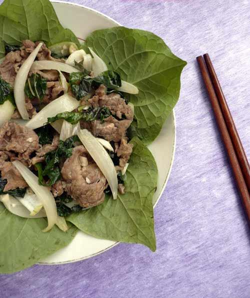 Thật lạ thịt bò xào lá lốt - 9