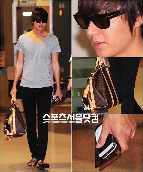 Lee Min Ho lại toả sáng tại sân bay - 1
