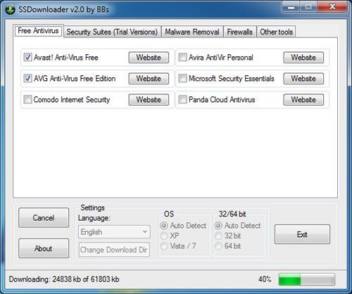 Tự động tìm và tải phần mềm diệt Virus - 1
