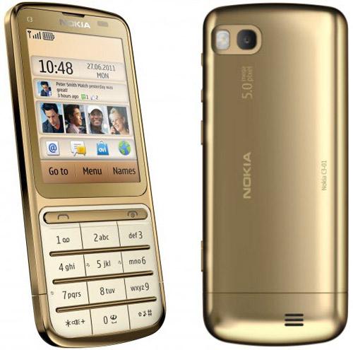Nokia C3-01 mạ vàng mãn nhãn - 1