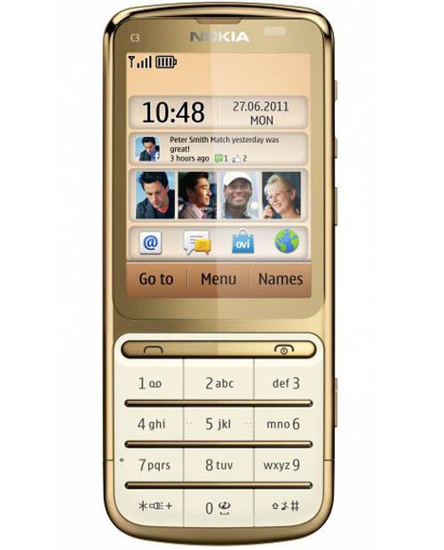 Nokia C3-01 mạ vàng mãn nhãn - 2