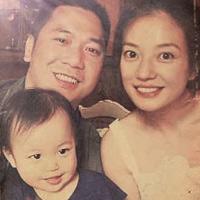 Chồng Triệu Vy khoe ảnh gia đình