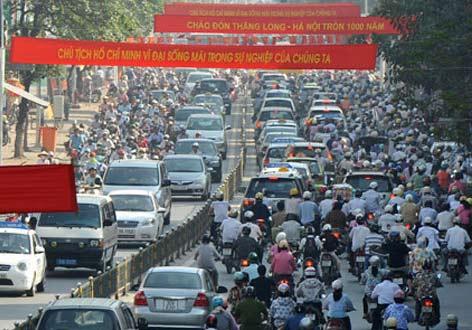 Đề án cấm xe máy sẽ được trình cuối 2012 - 1