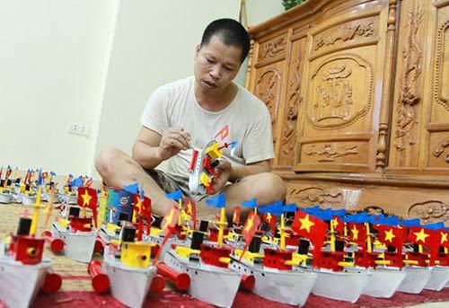 """Tàu thủy đồ chơi """"công nghệ"""" Việt xuất ngoại - 4"""