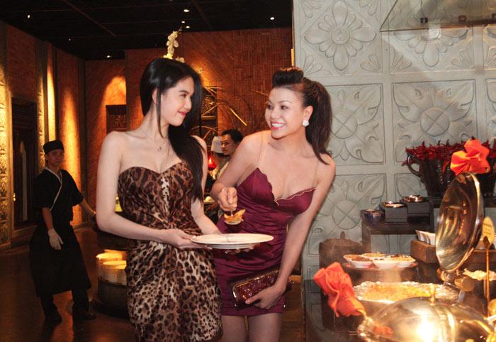 Trà Ngọc Hằng sexy dự tiệc Ngọc Trinh - 5