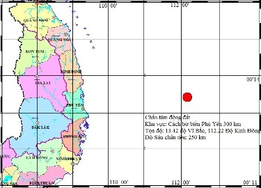 Động đất ở Phú Yên: Tính sai do ở xa - 1