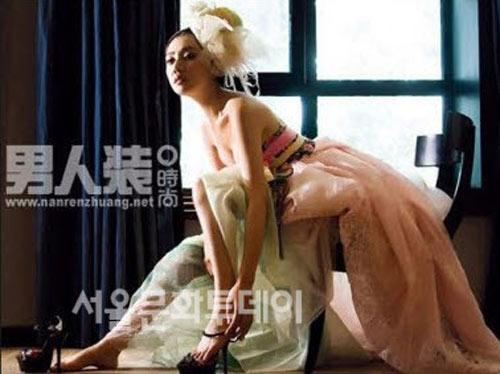 Chu Ja Hyun lại nude với hanbok - 2