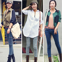 Tư vấn: Mặc jeans trong công sở mùa Thu