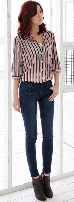 Tư vấn: Mặc jeans trong công sở mùa Thu - 3