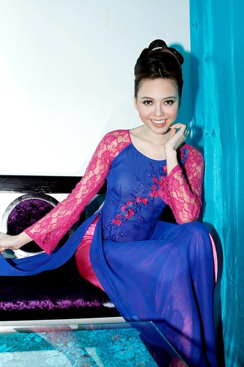 Hoàng Yến yểu điệu cùng áo dài ren - 4