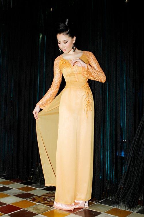 Hoàng Yến yểu điệu cùng áo dài ren - 7