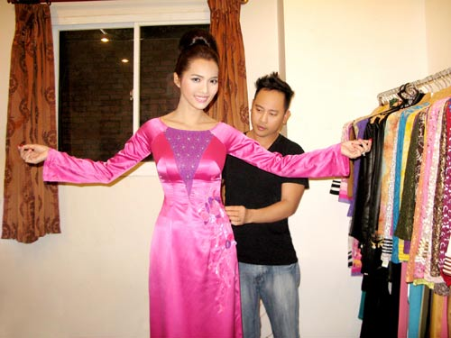 Hoàng Yến yểu điệu cùng áo dài ren - 20