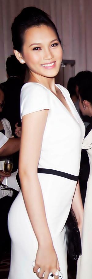 Ngọc Thạch diện váy của vợ David Beckham - 4