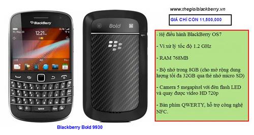 Blackberry Bold giảm giá cho 3 dòng 9930, 9650 và 9000 - 1