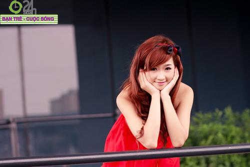 Hoa khôi ĐH Sân khấu điện ảnh đẹp rạng ngời - 14