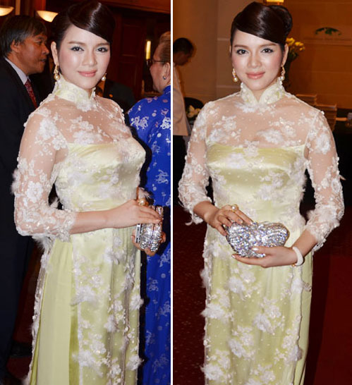 L Nh K v nhng b o di gy m , Thi trang, ly nha ky ao dai 250 trieu, ly nha ky hang hieu, ly nha ky kim cuong, thoi trang, sao viet mac ao dai, ao dai ren, ly nha ky scandal, tin tuc thoi trang