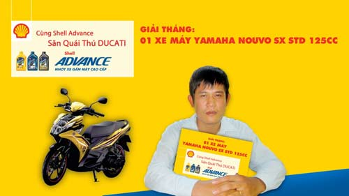 Cng Shell Advance sn qui th Ducati,  t - Xe my, 