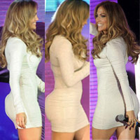 """J.Lo vòng 3 """"khủng"""" vẫn ham độn mông"""