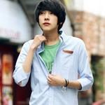 Thời trang - Sành điệu như trai Hàn với sơ mi kẻ