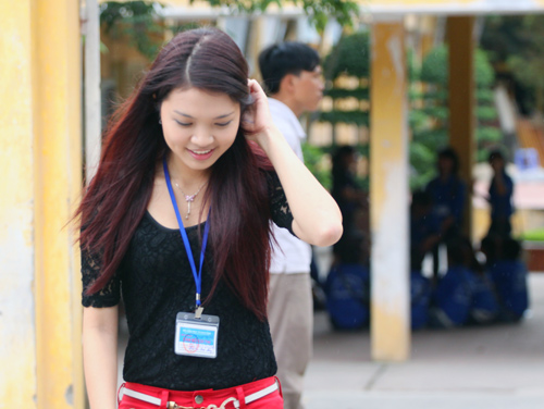 Bắt gặp Hoa khôi đi trông thi đại học - 5