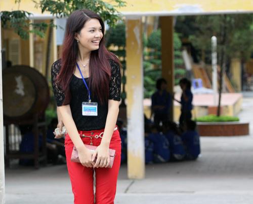 Bắt gặp Hoa khôi đi trông thi đại học - 10