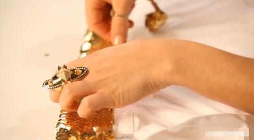 Làm cổ áo sequin lấp lánh đẹp mắt - 3