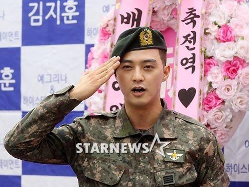 Chàng điển trai Kim Ji Hoon xuất ngũ - 1
