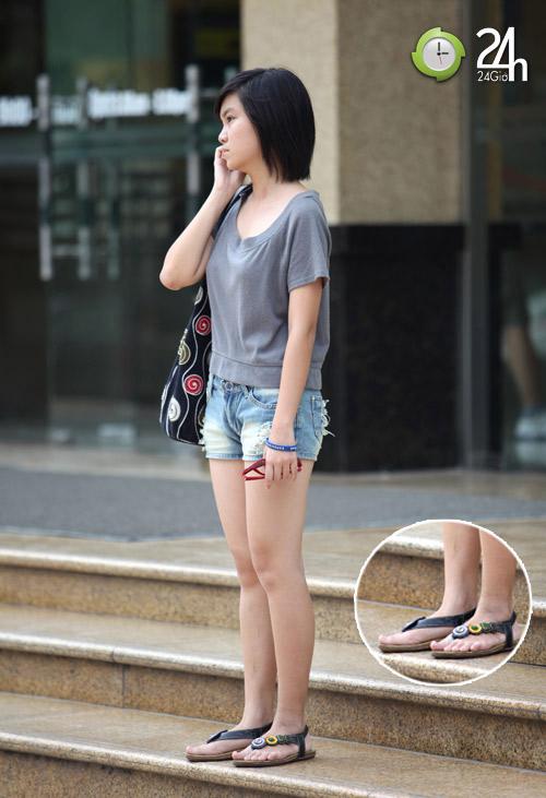Dạo phố Hà Nội ngắm chân xinh - 6