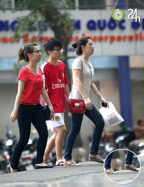 Dạo phố Hà Nội ngắm chân xinh - 4