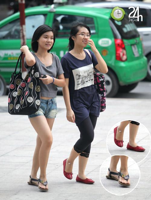 Dạo phố Hà Nội ngắm chân xinh - 5