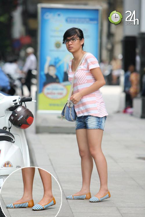 Dạo phố Hà Nội ngắm chân xinh - 8