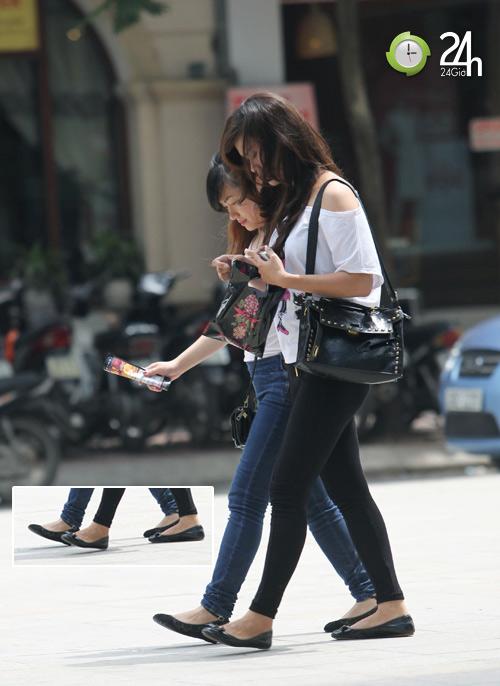 Dạo phố Hà Nội ngắm chân xinh - 7