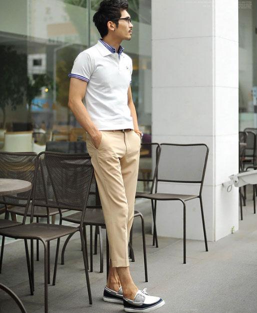 Cách phối giày vải với quần áo đi làm - 4