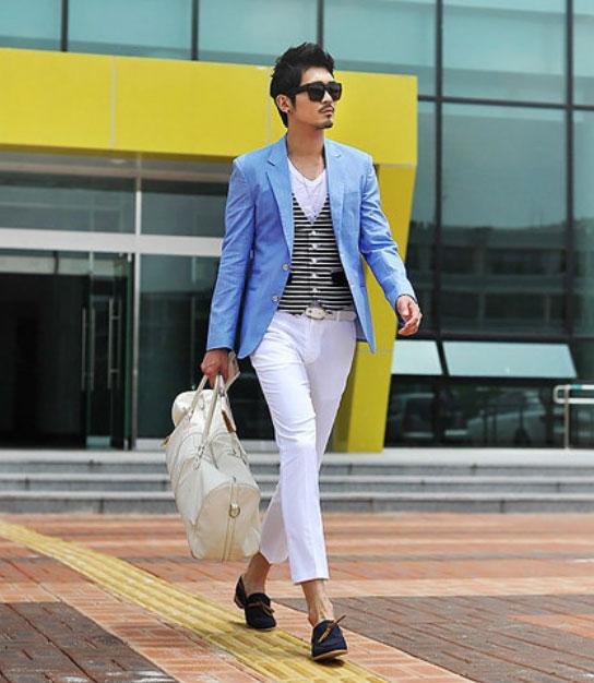 Cách phối giày vải với quần áo đi làm - 6