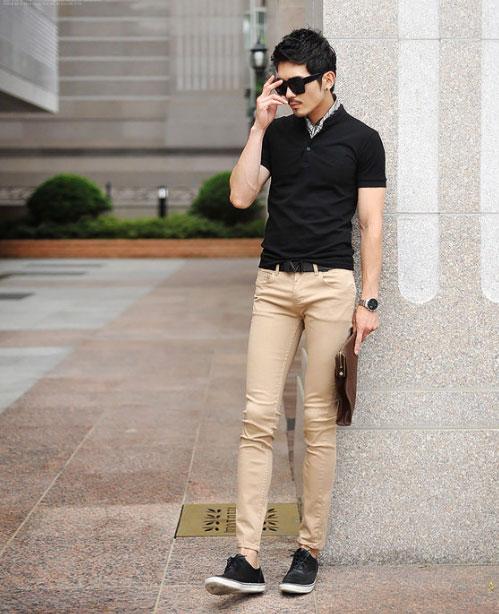Cách phối giày vải với quần áo đi làm - 7