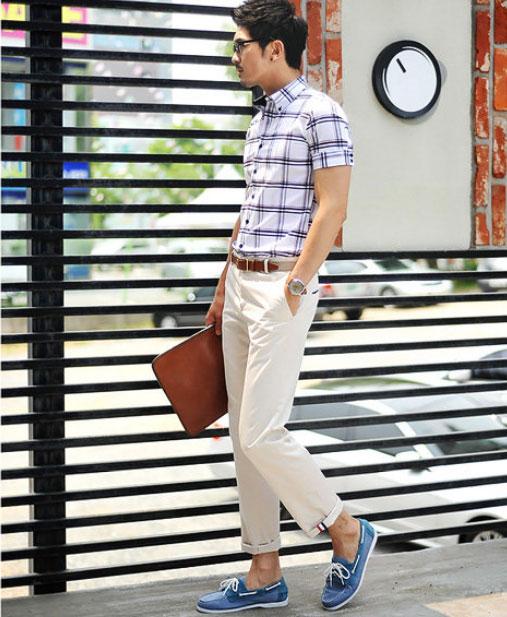 Cách phối giày vải với quần áo đi làm - 9
