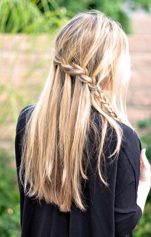 Tết sam cho mái tóc dài quyến rũ - 3