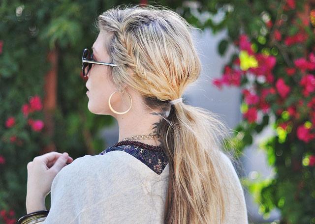 Tết sam cho mái tóc dài quyến rũ - 1
