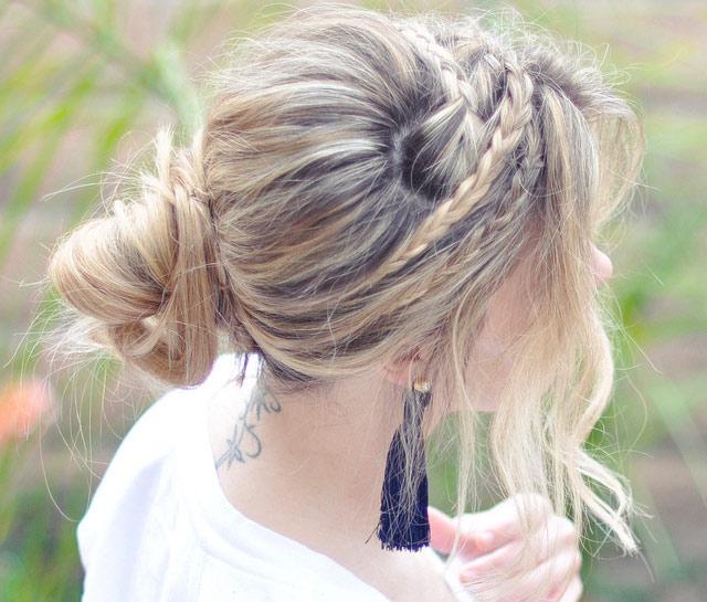 Tết sam cho mái tóc dài quyến rũ - 12