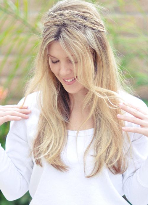 Tết sam cho mái tóc dài quyến rũ - 4
