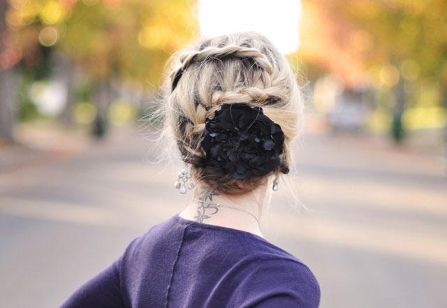 Tết sam cho mái tóc dài quyến rũ - 10