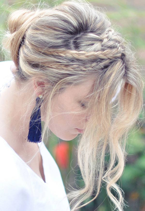 Tết sam cho mái tóc dài quyến rũ - 14