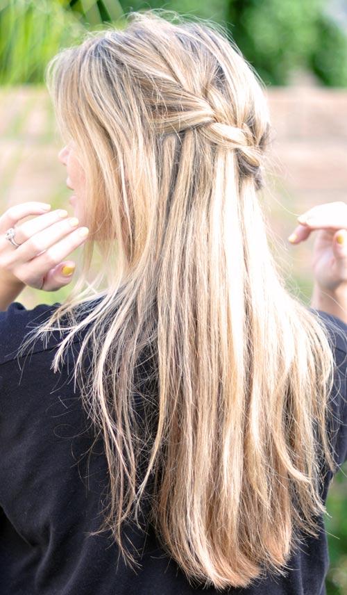 Tết sam cho mái tóc dài quyến rũ - 2