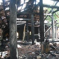 Cháy chùa cổ Hội Sơn, chánh điện bị thiêu rụi