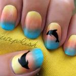 Làm đẹp - Sơn móng tay hình cá heo sành điệu